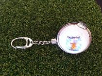 Golfball Schlüsselanhänger, Golfwerbemittel, Golfartikel, Oktoberfest Golfballanhänger