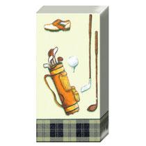 Golftaschentücher, Papiertaschentücher Golf, Golfwerbemittel,