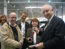 v.l.n.r: Heidi Kluge, Bernd Masche, Reinhard Kluge, Fr.Krumpel, Hr.Schulz