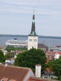 (Blick auf den Hafen von Tallinn)