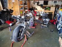 Yamaha R1 Tauschmotor, paar umbauten