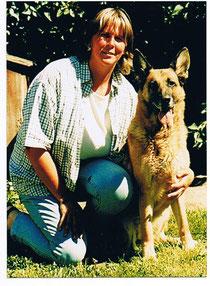 Beate mit Lassie