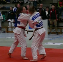 Mona Frühauf im Kampf um Platz 3