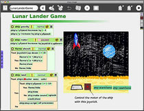 Sample: Lunar Lander on Etoys
