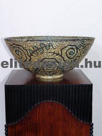 Géza Gorka Bowl with three colibri figures, 1932-36