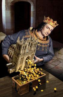 Philippe le Bel et la monnaie. Temple de Paris