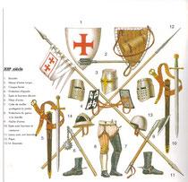 Armement et équipement templier. Temple de Paris