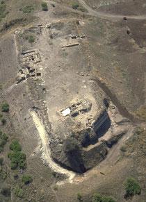 Vue aérienne Gué Jacob. Temple de paris