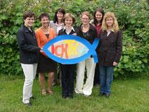 Familiengottesdienstkreis 2007: Gemeindereferentin Judith Drechsel, Claudia Härtl, Rita Schinner, Christine Beer, Manuela Rösler, Christa Andritzky und Rita Eiber
