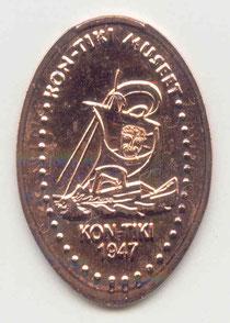 Kon-tiki museet 5 Euro cent - motief 1