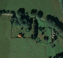 Luftaufnahme vom Friedhof in Schmalzgrube