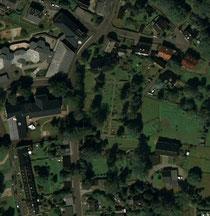 Luftaufnahme vom Friedhof in Kleinrückerswalde