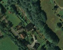 Luftbildaufnahme vom Friedhof in Rittersgrün