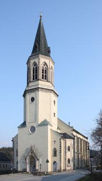 Vorderansicht der Kirche in Johanngeorgenstadt