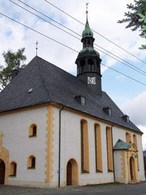 Blick auf die Kirche in Neudorf