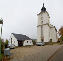 Blick auf die Kirche in Mildenau