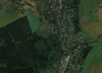 Luftaufnahme auf dem Friedhof Buchholz
