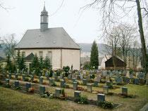 Blick auf dem Friedhof in Breitenbrunn