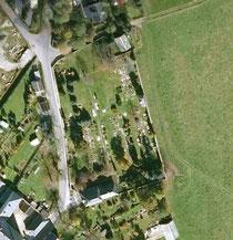 Luftbildaufnahme vom Friedhof in Jöhstadt