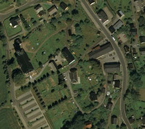 Luftbildaufnahme vom Friedhof in Mildenau