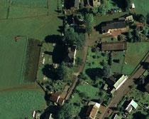 Luftbildaufnahme vom Friedhofsgelände in Schwarzbach
