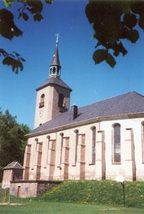 Blick auf die Kirche in Jöhstadt