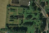 Luftaufnahme vom Friedhofsgelände in Neudorf