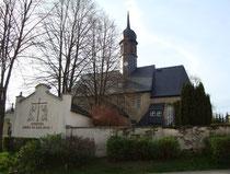 Blick auf die Kirche in Markersbach