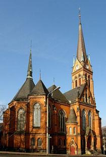 Blick auf die Nicolaikirche in Aue