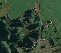 Luftaufnahme vom Friedhof in Breitenbrunn