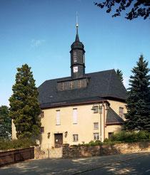 Blick auf die Kirche in Breitenbrunng