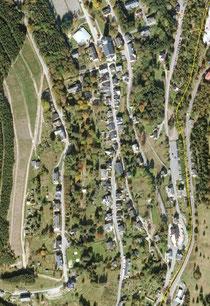 Luftbildaufnahme vom Friedhof in Johanngeorgenstadt