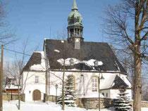 Blick auf die Kirche in Grumbach