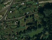 Luftaufnahme vom Friedhof in Bermsgrün