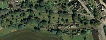 Luftbildaufnahme vom neuen Friedhof in Geyer