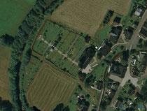 Luftaufnahme vom Friedhof in Cranzahl
