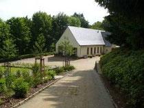 Blick auf die Totenhalle in Schwarzenberg