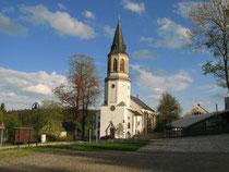 Blick auf die Kirche in Johanngeorgenstadt