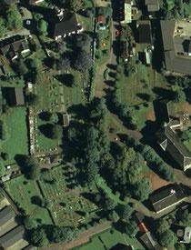 Luftbildaufnahme vom Friedhof in Zwönitz