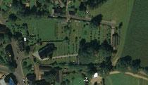 Luftbildaufnahme vom Friedhof in Königswalde