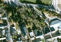 Luftbildaufnahme vom Friedhofsgelände in Oberwiesenthal