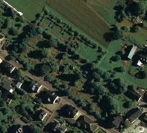 Luftaufnahme vom Friedhof in Bernsbach