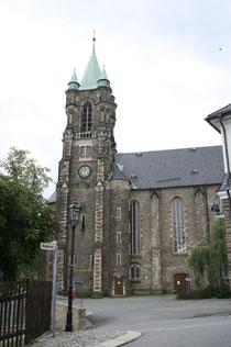 Blick auf die Kirche in Buchholz
