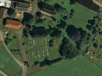 Luftbildaufnahme vom Friedhofsgelände in Wolkenstein