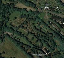 Luftaufnahme vom Friedhofsgelände in Schwarzenberg