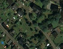 Luftaufnahme vom Friedhof in Oberpfannenstiel