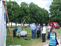 Mastbau will gut vorbereitet sein; Foto: DF2HF
