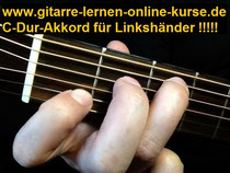 C-Dur-Akkord in der Linkshändervariante