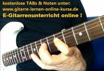 E-Gitarrenunterricht online: kostenlose Noten & TABs
