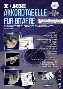 Gitarrengriffe nachschlagen - mit vielen Praxisbeispielen !  Erhältlich unter www.tunesdayrecords.de/Shop/catalog